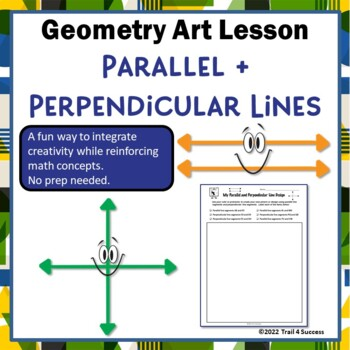 Parallel and Perpendicular Lines Geometry Art Design Activity
