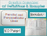 Parallel and Perpendicular Lines : Graphic Organizer with Definition & Examples