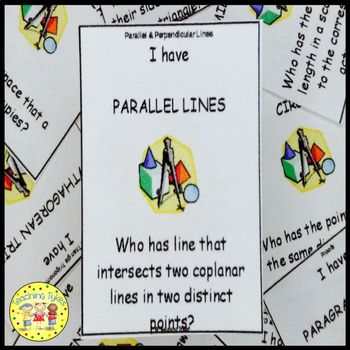Parallel and Perpendicular Lines I Have, Who Has Game