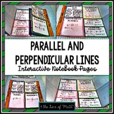 Parallel and Perpendicular Lines: Interactive Notebook Page