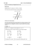 Parallel and Perpendicular Lines (Lesson 19 of 61)