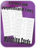 Parallel and Perpendicular Lines Matching Cards