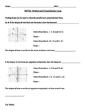Parallel and Perpendicular Lines Notes and Assignments
