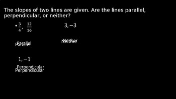 Parallel and Perpendicular Lines - PowerPoint Lesson (11.6)