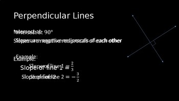 Parallel and Perpendicular Lines PowerPoint Lesson (2.5)