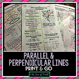 Parallel and Perpendicular Lines Print and Go