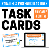Parallel and Perpendicular Lines Printable Task Cards and Boom Cards