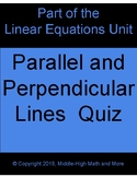 Parallel and Perpendicular Lines Quiz
