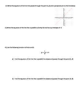Parallel and Perpendicular Lines Review with Answer Key