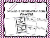 Parallel and Perpendicular Lines (Slope): Notes Foldable