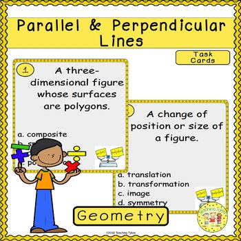 Parallel and Perpendicular Lines Task Cards