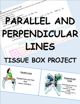 Parallel and Perpendicular Lines Tissue Box Project