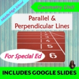 Parallel and Perpendicular Lines Unit for Special Ed with lesson plans