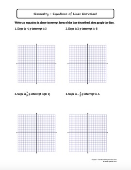 Parallel and Perpendicular Lines Worksheet Bundle