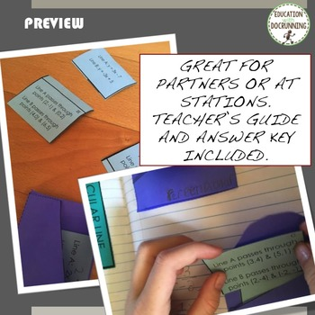 Parallel and Perpendicular Lines card sort station activity for Geometry