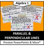 (Alg 1) Parallel and Perpendicular Lines in a PowerPoint Presentation