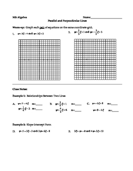 Parallel and Perpendicular Lines with Systems of Equations