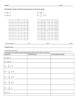 Parallel and Perpendicular Notes