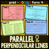 Slope of Parallel and Perpendicular Lines Task Cards