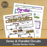 Parallel and Series Electrical Circuits Middle School Physics Doodle Notes