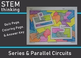 Parallel and Series Electrical Circuits Quiz Coloring Page Test Prep Review