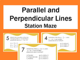 Parallel and perpendicular lines station maze