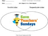 Parallel and perpendicular lines worksheets  (2 levels of difficulty)