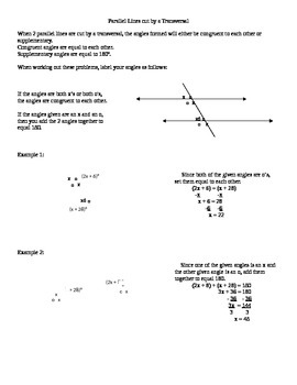 Parallel lines Equations Intro