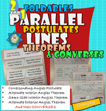 Parallel lines Postulates and Theorems + Converses Foldable