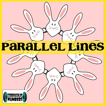 Parallel lines Transversal Angles Activity Easter Bunny Wreath (Spring)