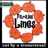 Parallel lines Transversal Angles Activity Fall Pumpkin Wr