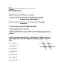 Parallel lines and angles formed by transversals Scantron Quiz