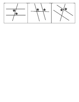 Parallel lines cut by a transversal Activity