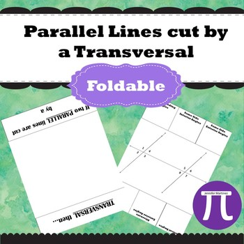 Parallel lines cut by a transversal foldable
