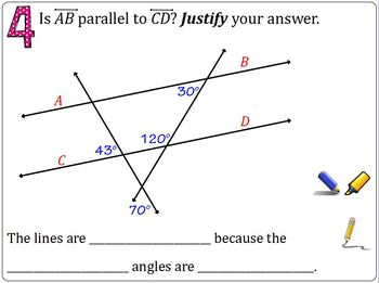 Parallel or Not Lesson (flipchart, practice,and exit ticket)