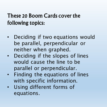 Parallel or Perpendicular Boom Cards