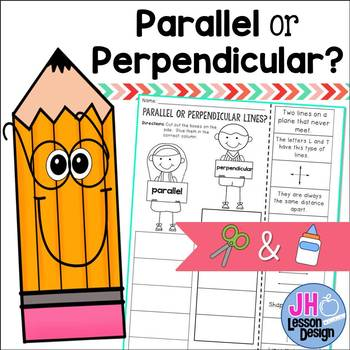 Parallel or Perpendicular Lines? Cut and Paste Sorting Activity