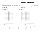 Parallel vs. Perpendicular Study Guide