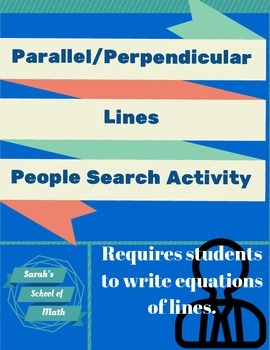 Parallel/Perpendicular Lines People Search Activity