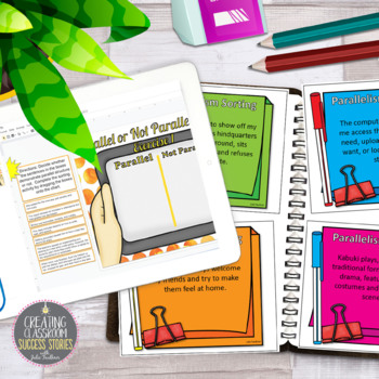 Parallelism, Grammar Game, Hands-On, Interactive, Great for Learning Stations