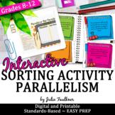 Parallelism Grammar Sorting Game, Printable and Digital
