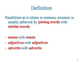Parallelism in Academic Writing