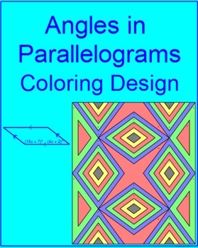 Parallelogram Angles - Coloring Activity