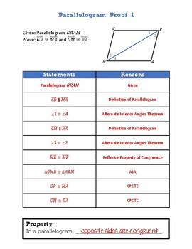Parallelogram Proofs