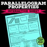 Parallelogram Properties Interactive Worksheet, Free