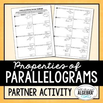 Parallelograms Partner Activity
