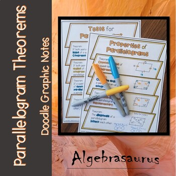 Parallelogram Theorems Doodle Notes or Graphic Organizer packet