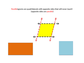 Parallelogram mini lesson and work