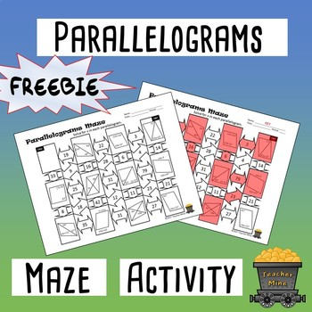 Parallelograms Maze Activity