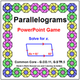 Parallelograms - Properties WIPE OUT! Game